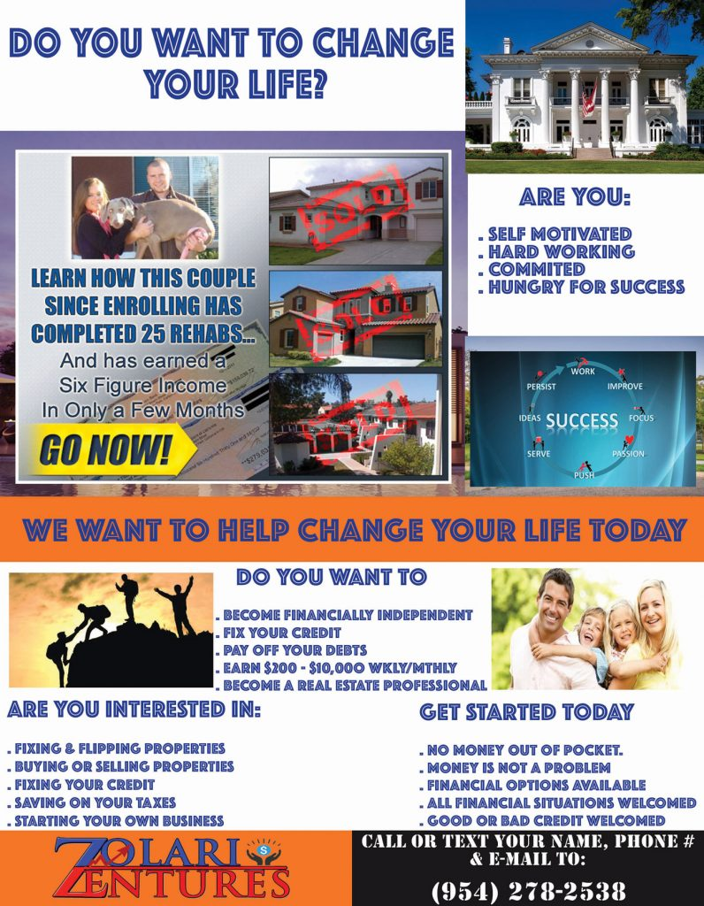 Your Life Changing Opportunity Awaits