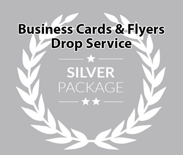 Business Cards and Flyers Drop Service Silver Package