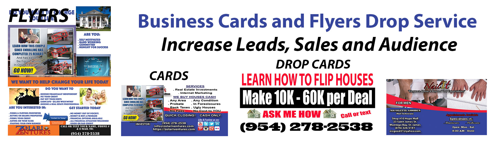 Business Cards and Flyers Drop Service