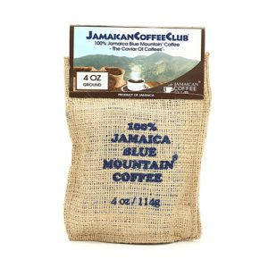 JAMAICA BLUE MOUNTAIN COFFEE 4-OZ Roasted and Ground