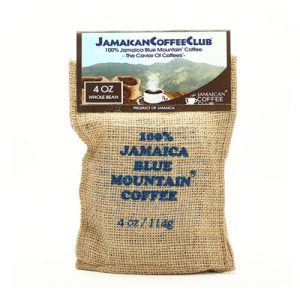 JAMAICA BLUE MOUNTAIN COFFEE 4-OZ Whole Bean